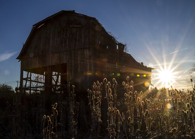 Barn and Sunrise