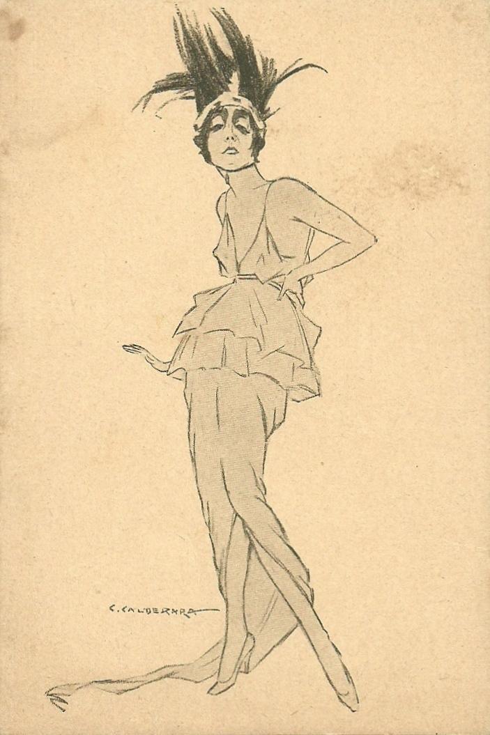 Lyda Borelli Calderara caricature