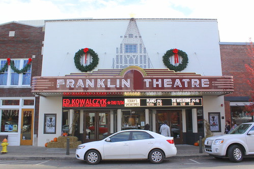 Franklin Theater at Christmas