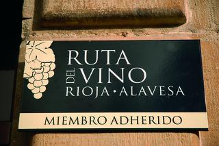 Placa de miembro de la Ruta del Vino.
