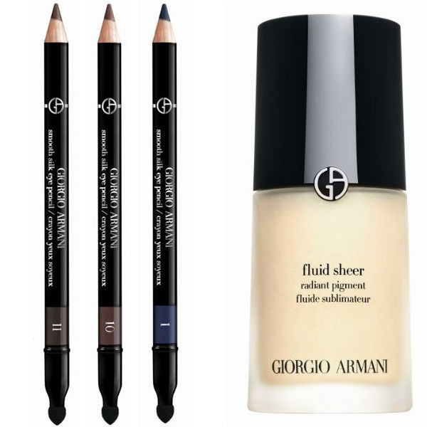 giorgio armani effetto nudo smooth silk eye pencil and armani fluid sheer radiant pigment