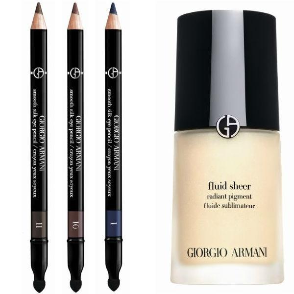 giorgio armani effetto nudo smooth silk eye pencil and armani fluid sheer radiant pigment