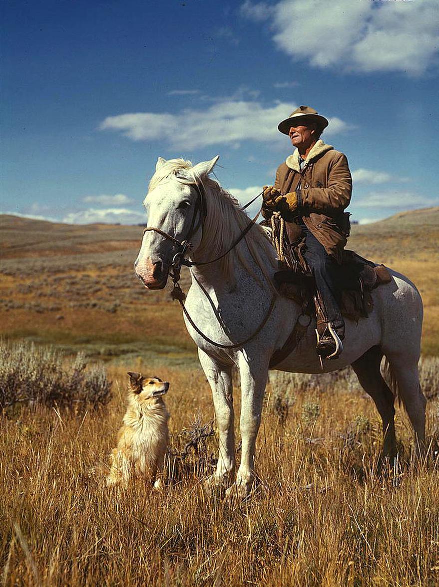 5. Cowboy en Montana. Hacia 1942. Autor, Grandpa and Grandma