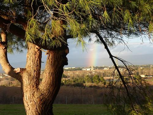 france arcoiris landscape rainbow francia arcobaleno carcassonne languedoc paesaggio carcassona linguadoca