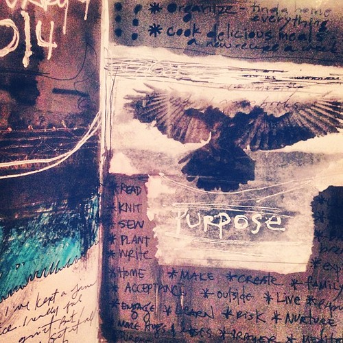 From my journal. Writing out my vision for 2014. #artjournal #visualjournal #mixedmedia by bgmills