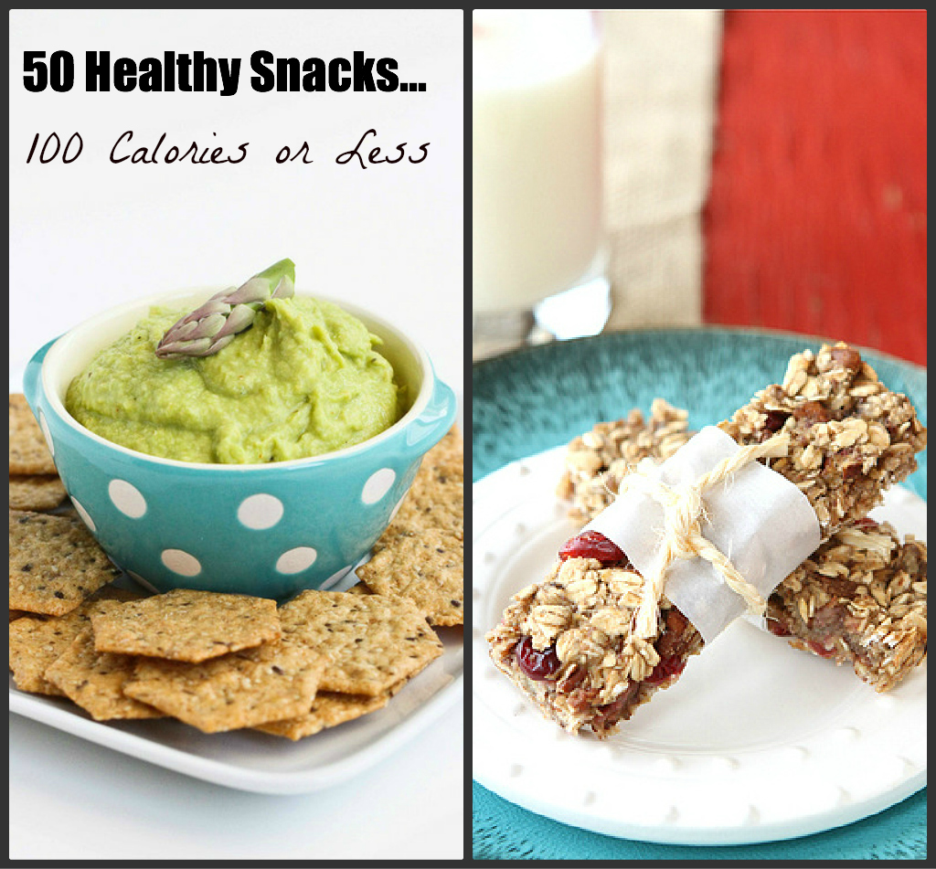 50 Healthy Snacks...100 Calories or Less | cookincanuck.com #healthy #snacks
