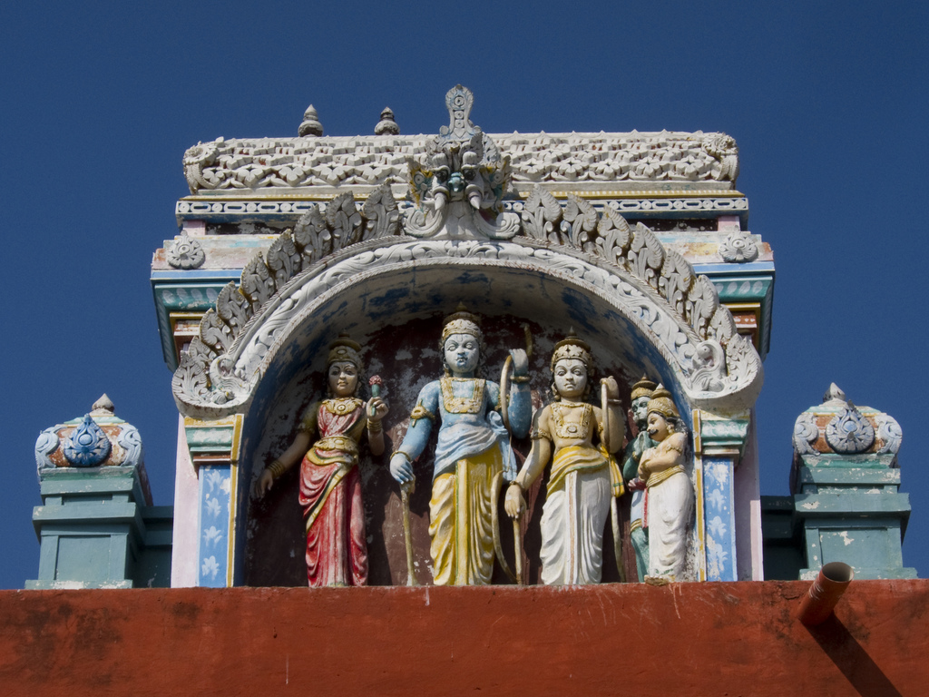 15. Detalle de un templo en Rameshwaran. Autor, Indi.ca
