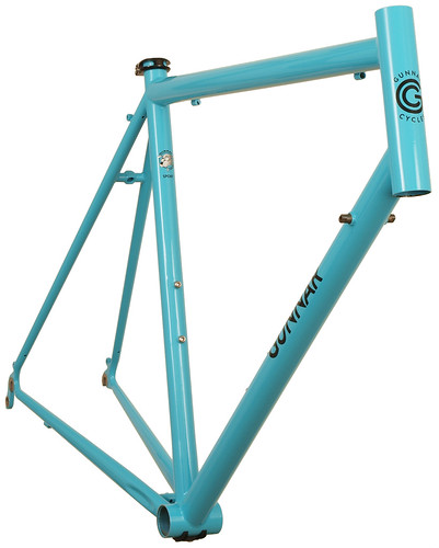 <p>Front view of Gunnar Sport in Turquoise with Black Bullseye Decals.  The Sport's comfort fit, light weight and high fender clearance make it one of the best recreational road bikes you can ride.</p>