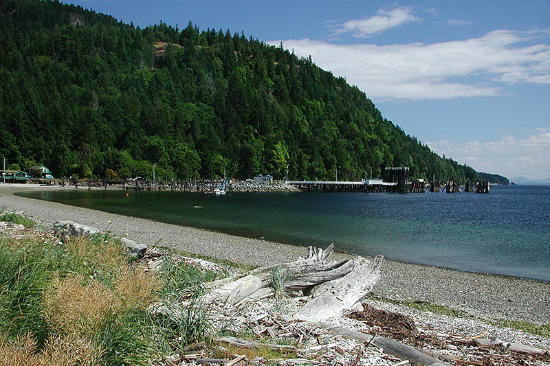 Shingle Spit, Hornby Island, Gulf Islands, Georgia Strait, British Columbia, Canada