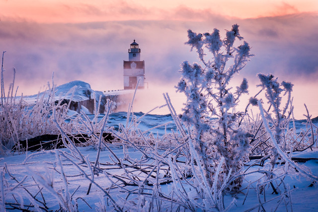Frost, Mist, Fog, Lighthouse, Kewaunee, Cold, Winter