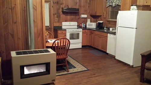Kitchen and gas fireplace / heater