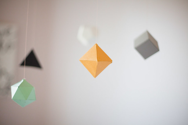 DIY Geometric Mobile