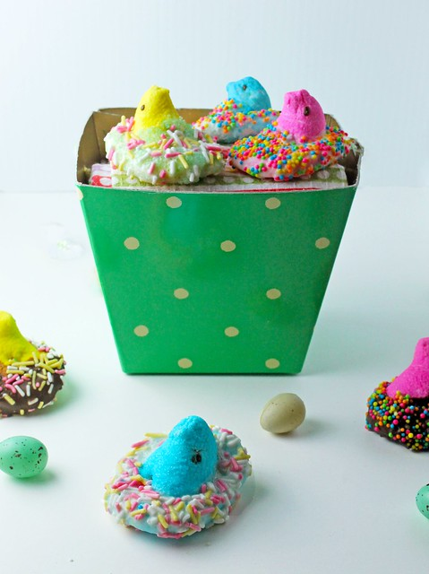 Coconut Chocolate Dipped Peeps