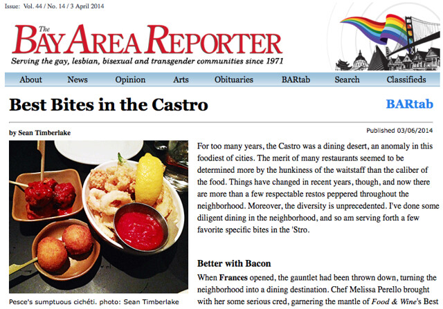Bay Area Reporter article 4/3/2014