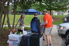 Students moving out of campus residence halls can donate unwanted items through Check-Out for Charity.