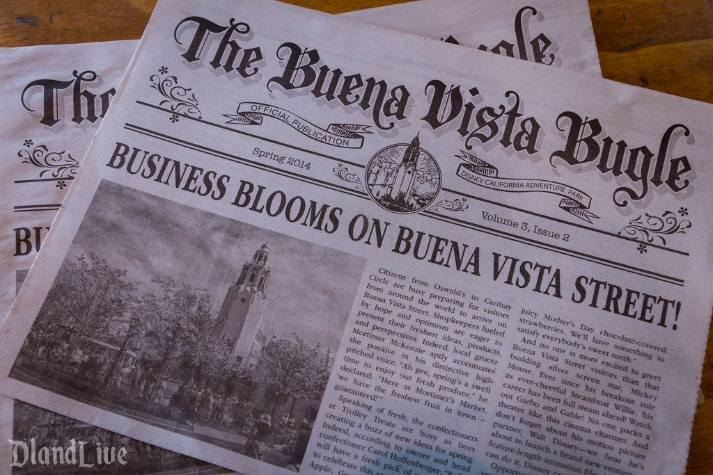 Spring 2014 Buena Vista Street Bugle