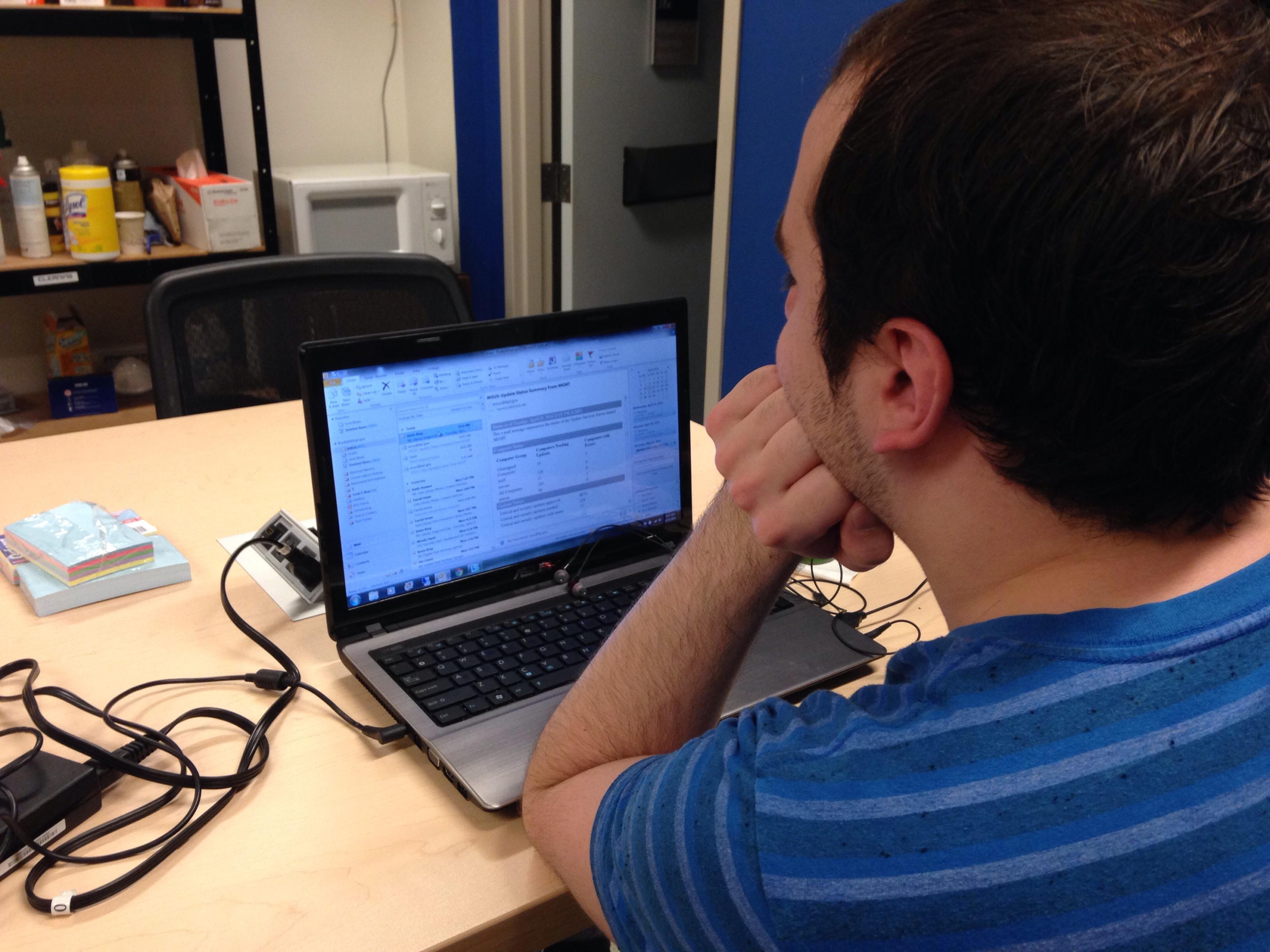 Hard working IT intern. #KPLsnapshot