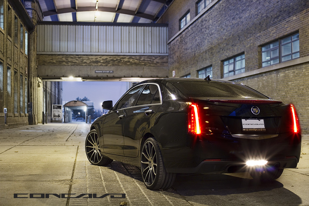 Cadillac Ats Concavo Cw 12 Matte Black Machined