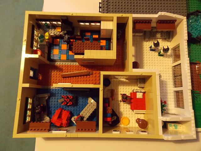MOC Modernish style British semidetached house LEGO Town – Lego House Floor Plan