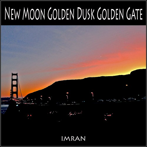 New Moon At Golden Dusk Over Golden Gate Bridge(s) Day & Night - IMRAN™