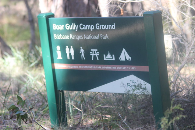 Boar Gully Camp Ground Sign