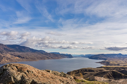 Kamloops Lake in the Thompson Okanagan region of British Columbia, Canada