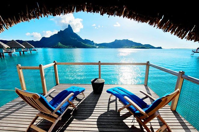 Le Meridien Bora Bora—Premium Over water Bungalow - Terrace