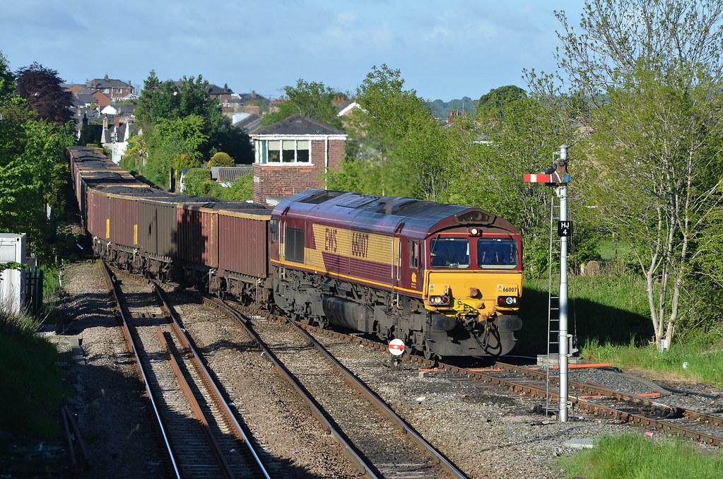 66007 6Z16 Carlisle-Clitheroe coal, Horrocksford Junction 01.06.2013 (2)