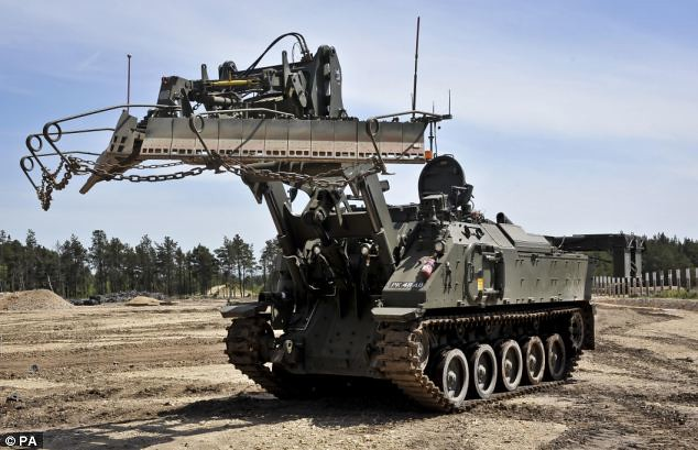 The British Army's most advanced engineering vehicle, which is known as Terrier