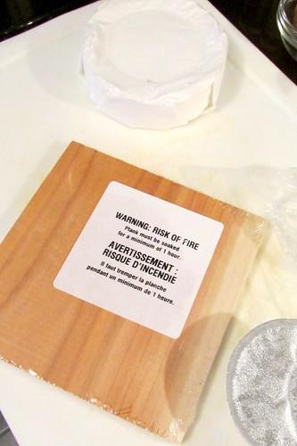 PC Cedar Plank Brie, Pita Crackers with Sea Salt & Black Label Bacon Marmalade