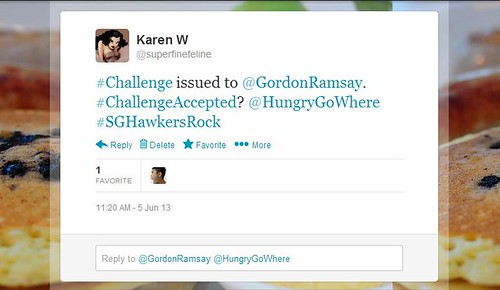 SFF's Twitter Challenge to Gordon Ramsay