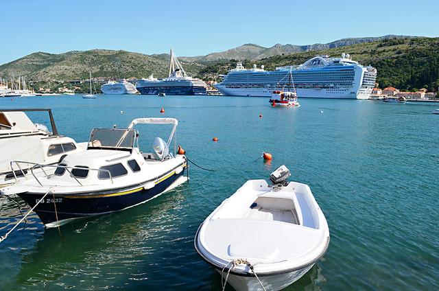 Cruise Ships in Lapad, Dubrovnik, Croatia