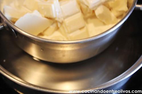 Tarta de queso, chocolate blanco y frambuesas www.cocinandoentreolivos (17)
