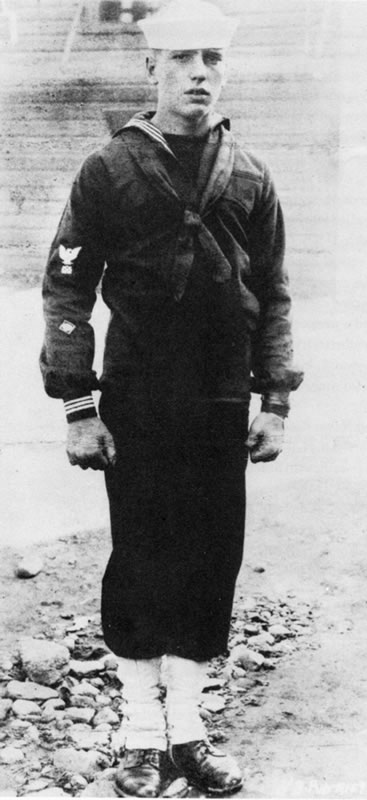 Circa 1918 - Humphrey Bogart in the US Navy