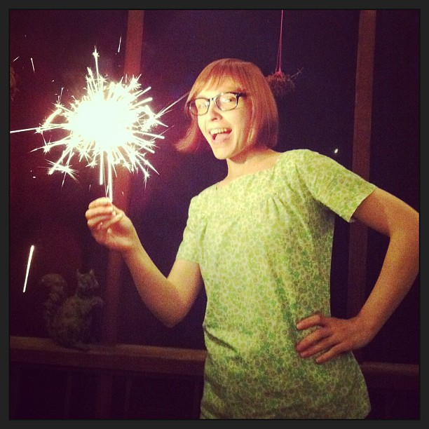 Sparklers! Happy fourth!