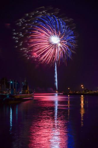 USS Cobia, Submarine, Manitowoc, Fireworks, Burst