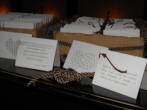 Women and man wedding favors