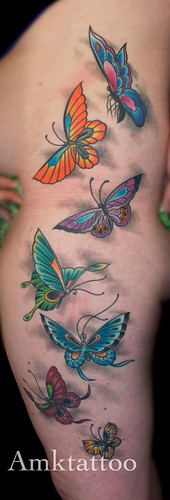 Butterfly's amktattoo Melbourne tattoo magic by Adriantattoo