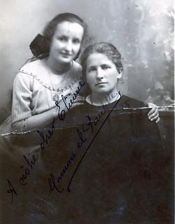 1927-1928, mère et soeur, émigrées en Argentine