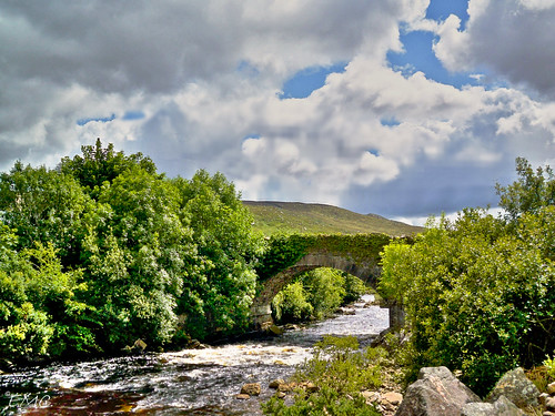 bridge trees ireland sky terrain heritage water grass clouds river skyscape landscape nikon scenery rocks view scenic places landmark eire hills valley hdr donegal irlande waterscape oldbridge doochary ruralireland irlandi d3100 nikond3100