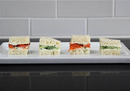 fromage blanc tea sandwiches (gluten-free)