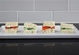 fromage blanc tea sandwiches (gluten-free) | by Plains Joy