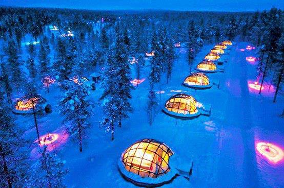 Igloo Village of Hotel Kakslauttanen in Finland