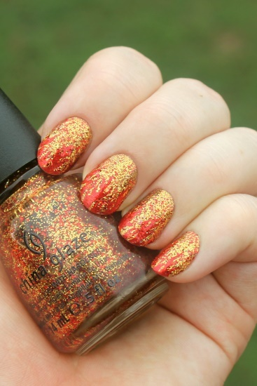 "China Glaze ""Electrify"" with Flames"