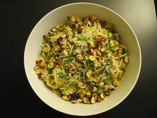 Orecchiette with Squash, Chiles, and Hazelnuts Maman