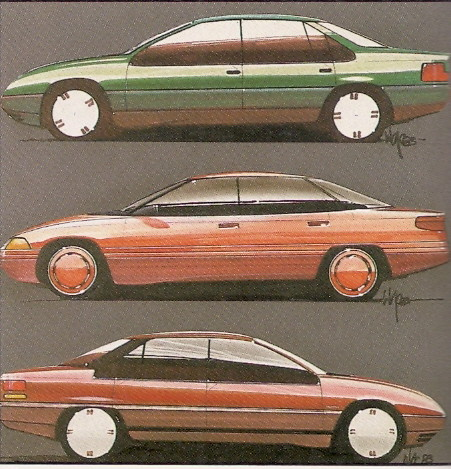 1988 Ea Series Ford Falcon Design Sketches Flickr