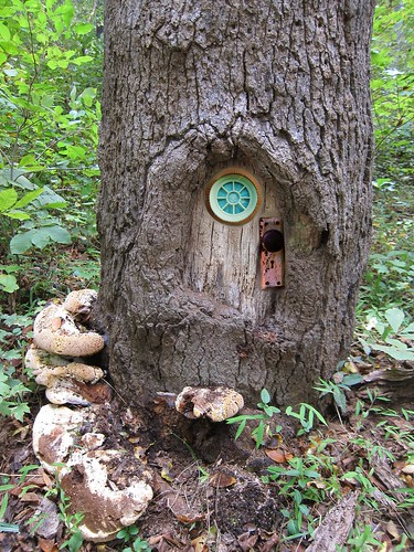 Fairy door tricked out