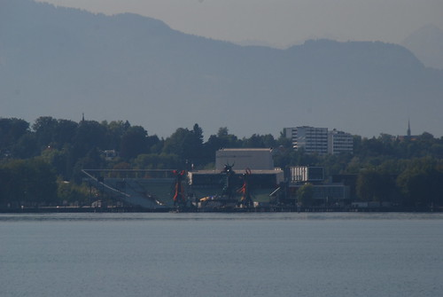 Looking across to the opera stage in Bregenz