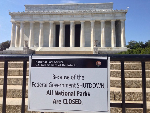 Lincoln Memorial during the Government Shutdown [explored]
