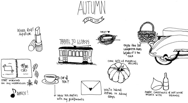 autumn: to-do list